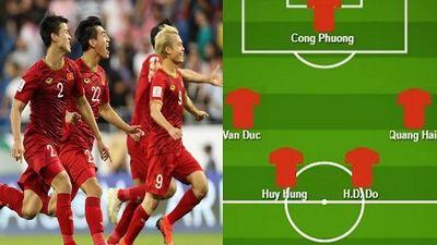 Hé lộ đội hình mạnh nhất của Việt Nam đấu Nhật Bản