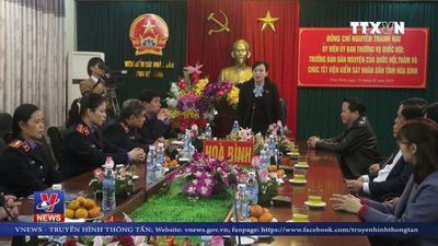 Trưởng ban Dân nguyện Nguyễn Thanh Hải thăm và chúc Tết tại Hòa Bình