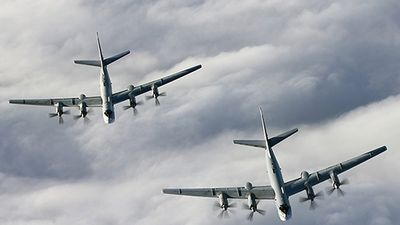Tiêm kích Nhật Bản chặn máy bay Tu-95MS của Nga