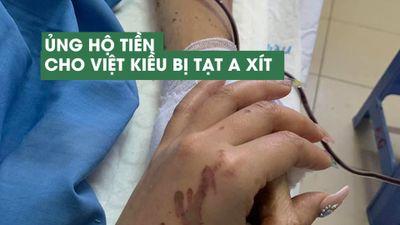 Bạn bè lập quỹ ủng hộ Việt Kiều Canada bị tạt a xít, cắt gân chân ở Quảng Ngãi