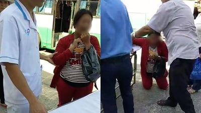 Sự thật về clip người phụ nữ giả mang bầu sắp sinh nhằm lừa gạt tiền quyên góp trên xe buýt