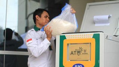 Máy ATM rút gạo thay vì tiền