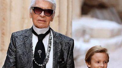 Karl Lagerfeld xuất hiện cùng con trai nuôi trên thảm đỏ