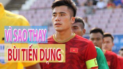 Bùi Tiến Dụng rời sân và đây là giải thích của HLV Nguyễn Quốc Tuấn