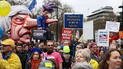 hàng trăm nghìn người biểu tình phản đối Brexit ở London