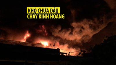 Cháy kinh hoàng tại kho chứa dầu ở TP.HCM, hàng trăm người suốt đêm cứu hỏa