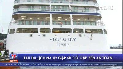 Tàu du lịch Na Uy gặp sự cố cập bến an toàn