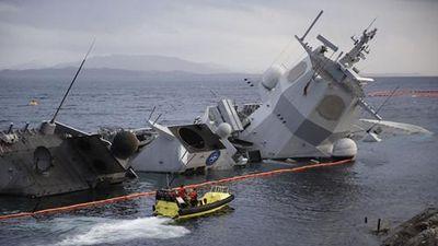 Khó đỡ cách Na Uy 'vá' tàu chiến bị tàu hàng tông chìm