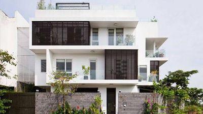 10 mẫu nhà phố 3 tầng có sân vườn thoáng mát