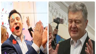Bầu cử Tổng thống Ukraine: Danh hài Zelensky dẫn trước 50 điểm so với Tổng thống Poroshenko
