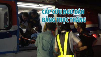 Trực thăng đưa ngư dân đau bụng từ Trường Sa về đất liền cấp cứu