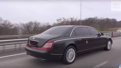 Mercedes-Benz S600 Pullman Guard tiếp tục 'vi vu' cùng ông Kim Jong-un đến Nga