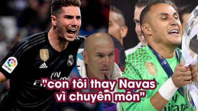 Zidane: 'Con trai tôi thay Navas vì lý do chuyên môn'