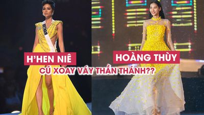 Đi thi Miss Universe, Hoàng Thùy có ý định tái hiện cú xoay váy của H'Hen Niê