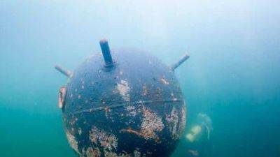 Anh kích nổ một quả bom dưới nước từ thời Chiến tranh Thế giới