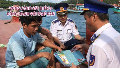 Vùng Cảnh sát biển 4 đồng hành với ngư dân
