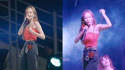 Nhảy 'bốc lửa' đến mức đứt cả dây áo, cách HyunA xử lý sự cố cực ngầu khiến anti-fan ngả mũ thán phục