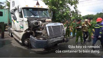 Ngổn ngang vụ container tông 5 người tử vong ở Tây Ninh