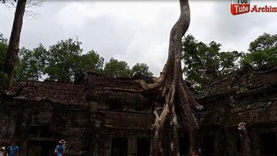 CLIP: Kỳ lạ ngôi đền bị rễ cây cổ thụ 'nuốt chửng' ở Campuchia