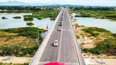 Khánh thành cầu Thạch Bích 640 tỷ bắc ngang sông Trà Khúc