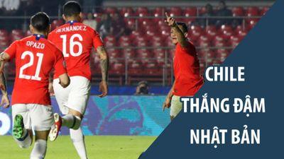 ĐKVĐ Chile thể hiện sức mạnh đáng sợ trước Nhật Bản