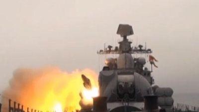 Clip: Cận cảnh Nga thử tên lửa siêu thanh Mosquito với vận tốc hơn 3400 km/h trên biển Nhật Bản