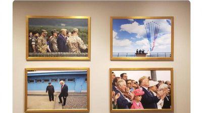 Ảnh Chủ tịch Kim Jong-un xuất hiện trong Nhà Trắng