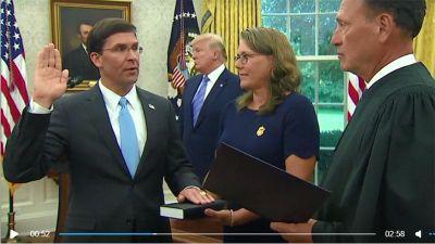 Ông Mark Esper tuyên thệ nhậm chức Bộ trưởng Quốc phòng Mỹ