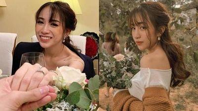 Khoe cận chiếc nhẫn kim cương bạn trai cầu hôn, con gái Minh Nhựa hứa hẹn một đám cưới 'khủng' sắp diễn ra