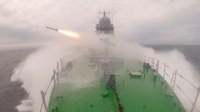 Chiến hạm Nga thử tên lửa phòng không trên biển Nhật Bản