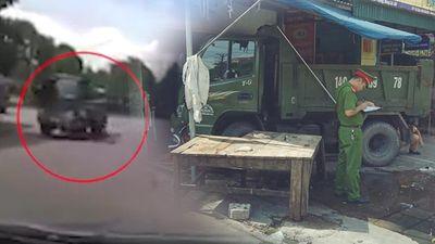 Tài xế văng ra khỏi xe sau khi ôm cua, xe lao thẳng vào nha dân gây tai nạn