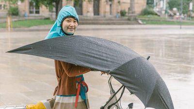 Ô che mưa chuyên dành cho người đi xe đạp