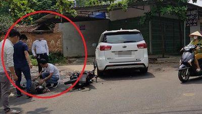 Tài xế ôtô thờ ơ sau khi gây tai nạn
