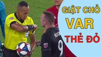Rooney nhận thẻ đỏ vì thúc chỏ vào đối thủ