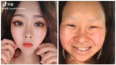 Chị em 'hiện nguyên hình' sau khi tẩy trang 7749 lớp make up
