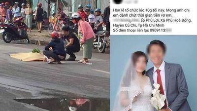 Cô dâu tử nạn buổi sáng ở TP.HCM, chú rể tổ chức lễ cưới trong đêm gây xúc động