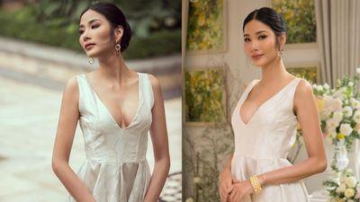 Hoàng Thùy lại xuất hiện với vòng 1 căng đét khiến nghi vấn nâng ngực thi Miss Universe 2019 càng có cơ sở