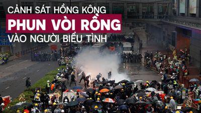 Cảnh sát Hồng Kông nổ súng, phun vòi rồng trấn áp người chống đối
