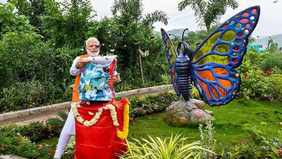Thủ tướng Ấn Độ thả hàng trăm con bướm vào ngày sinh nhật