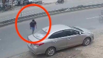 Camera ghi cảnh nam thanh niên trộm ôtô