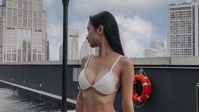 Jun Vũ khoe dáng nóng bỏng với bikini, Chi Pu mặc váy hở lưng lạ mắt