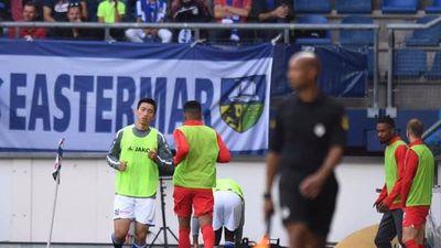 Văn Hậu sắp ra sân trong trận đấu của U21 Heerenveen