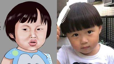 'Sa chào cô chú đi' và loạt ảnh chế hài hước về cậu bé lai Việt Nhật