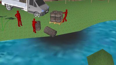 Quá trình đổ dầu thải gây ô nhiễm nước sông Đà diễn ra thế nào?