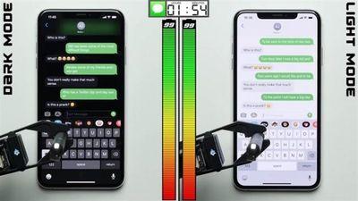 Sử dụng chế độ Dark Mode, iPhone tiết kiệm được 30% pin