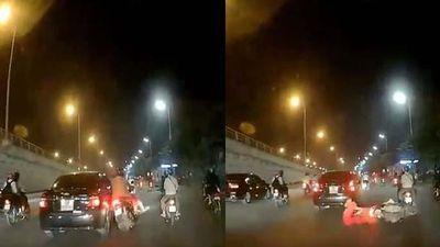 Xác định danh tính chủ ô tô tông ngã xe máy chở trẻ em rồi bỏ chạy trên phố Hà Nội