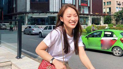 Hot girl Khánh Vy bắt đầu chuộng đồ hiệu, thích mặc váy xòe nữ tính