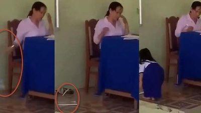 Đề xuất cảnh cáo cô giáo ném vở học sinh xuống nền gạch