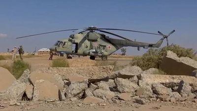 Trực thăng Nga chiếm lĩnh căn cứ Mỹ bỏ lại ở Syria