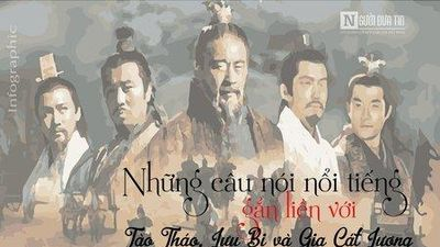 Những câu nói nổi tiếng gắn liền với Tào Tháo, Lưu Bị và Gia Cát Lượng
